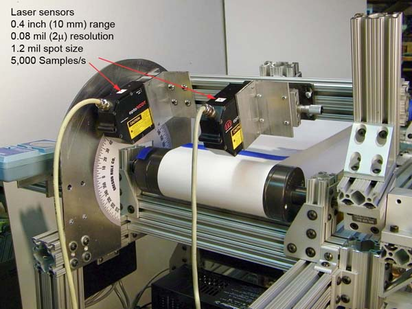 Machine test roller small